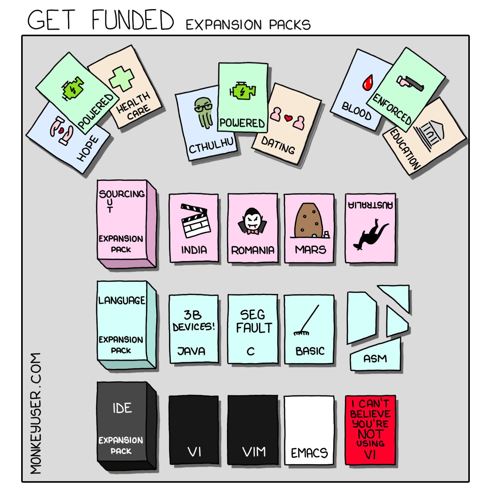 Get Funded: Expansion Packs